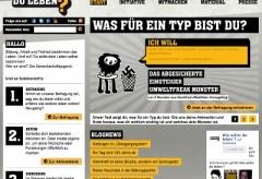 """Screenshot der Website zu """"Wie willst du leben?"""""""